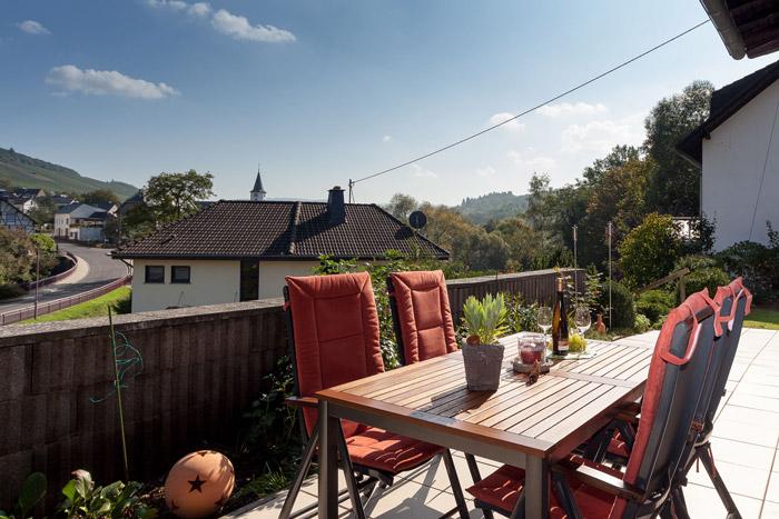 Terrasse mit Blick auf Maring
